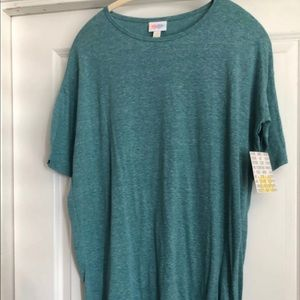 New Lularoe XXS Blue Green Heathered Irma